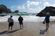 Watching the waves, Kynance Cove