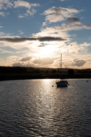 Sunset on the Exe