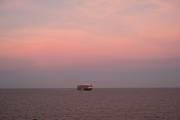 Sunset on Freighter