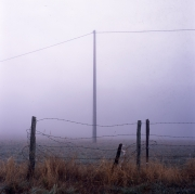 Fog and Barbed Wire Fence