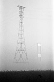 Pylon & bridge in the fog