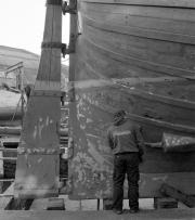 Matthew in dry dock at Underfall Yard
