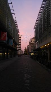 Dawn near Millennium Square