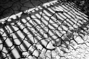 Shadow on drying mud