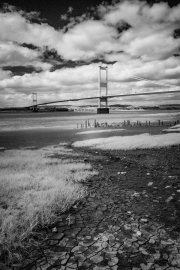 Old Severn Bridge and mud