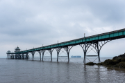 Clevedon Pier, with ship