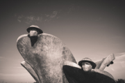 Statue at Juno Beach centre, Courseules