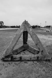 Concrete defence at Juno Beach centre, Courseules