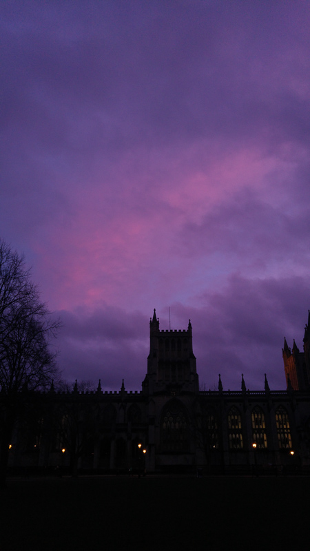 February Sunset, Bristol Cathedral