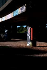 Graffiti Column in Shadow