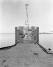 Severn Bridge pylon and gate