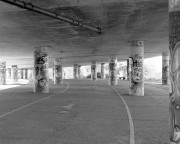 Flyover columns and path
