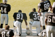 Tim Brown and Marcus Allen
