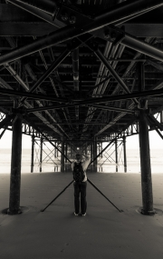 Kathryn underneath the Pier