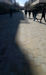 Shadows on Cathedral Walk