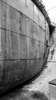 Dry dock dam at the SS Great Britain