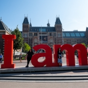 I Amsterdam sign at the Rijksmuseum