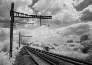 Railway track in infra-red