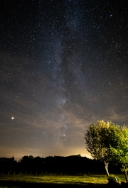 Milky Way with foreground