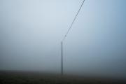 Power line in the fog