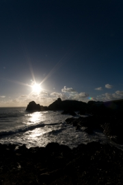 Sunset over Kynance Cove