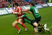 Munster Player Tackled